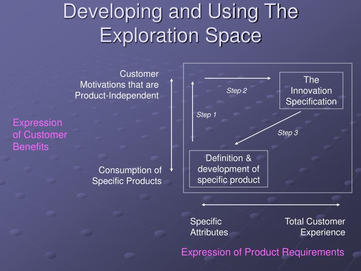 Developing and Using The Exploration Space