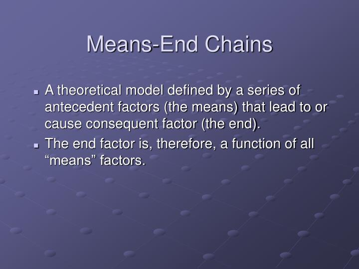 Means-End Chains