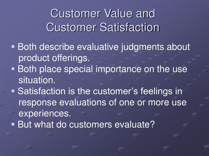 Customer Value and