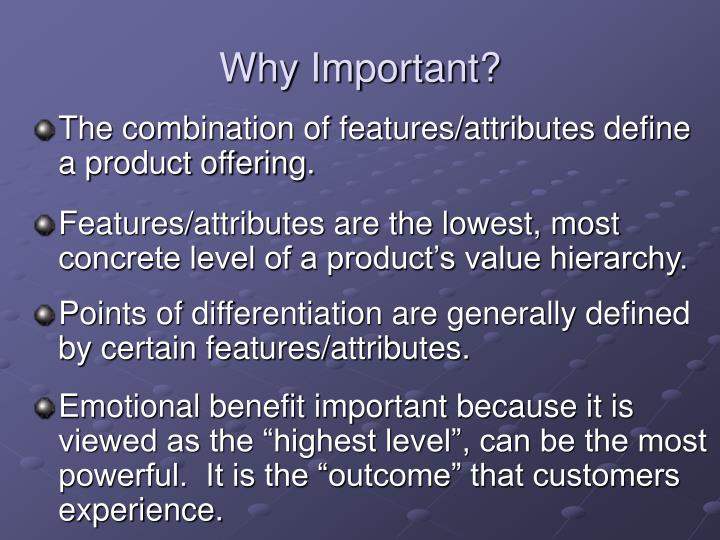 Why Important?