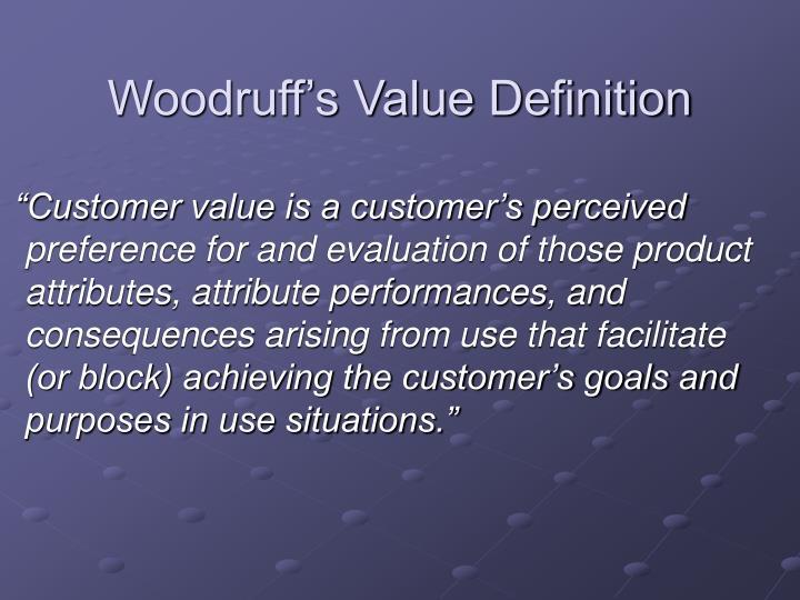Woodruff's Value Definition