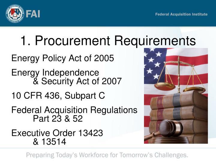 1. Procurement Requirements