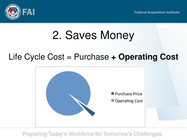 2. Saves Money