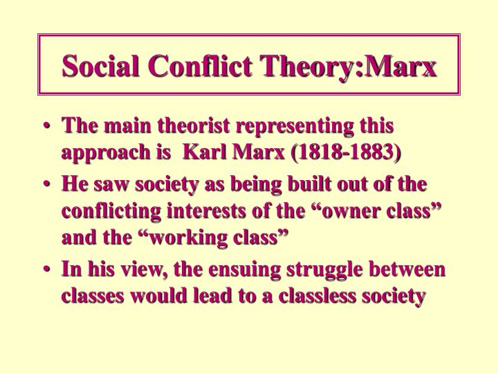 Social Conflict Theory:Marx