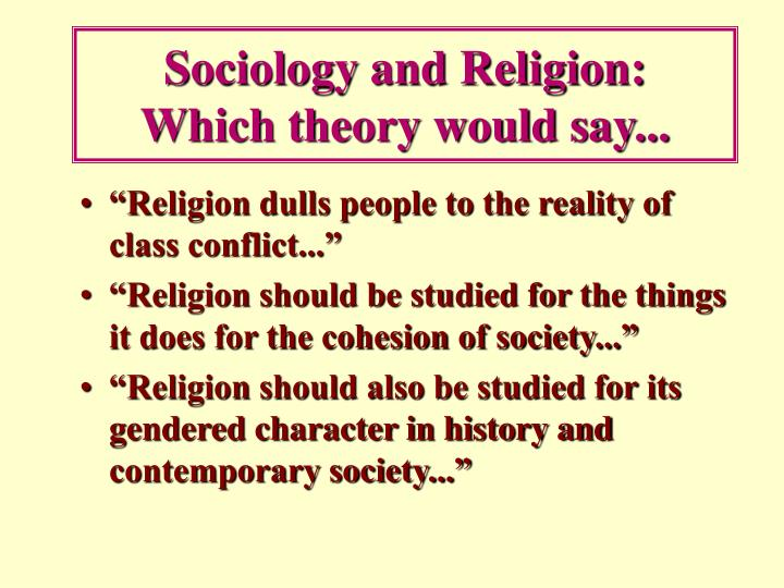 Sociology and Religion:
