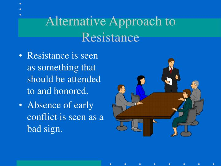 Alternative Approach to Resistance