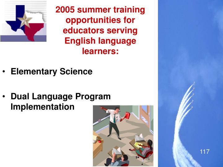 2005 summer training