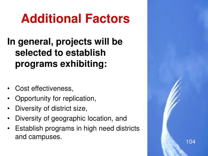 Additional Factors