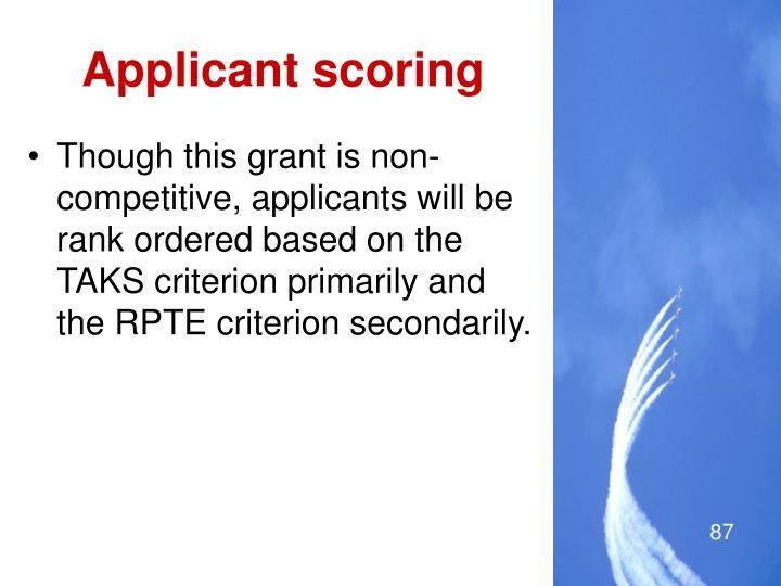 Applicant scoring