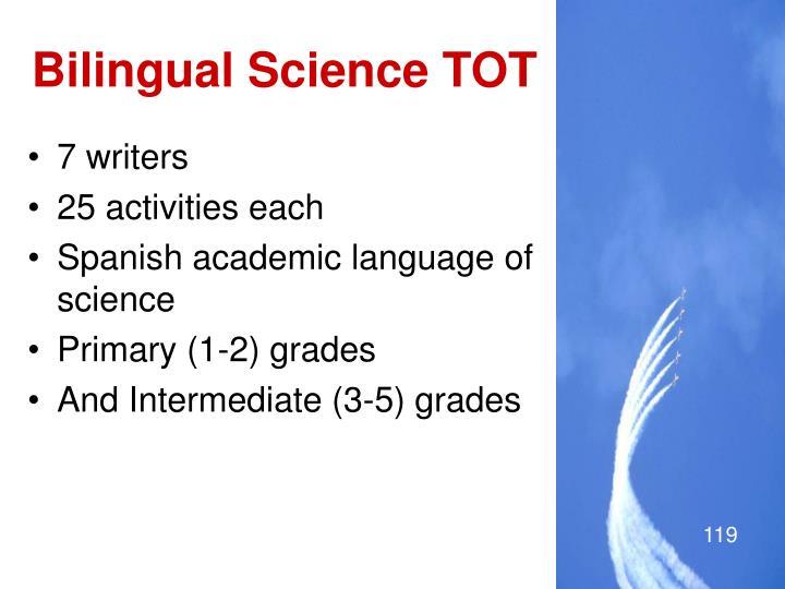 Bilingual Science TOT