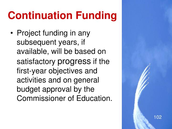 Continuation Funding