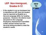 lep non immigrant grades 9 12