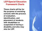 lep special education framework charts