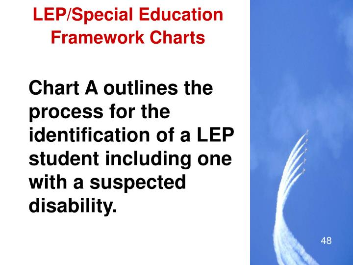 LEP/Special Education Framework Charts