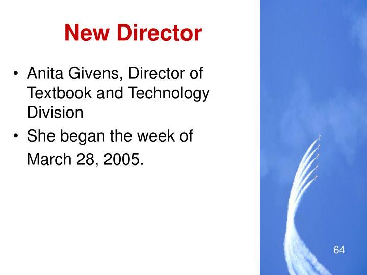 New Director