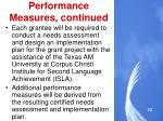 performance measures continued2