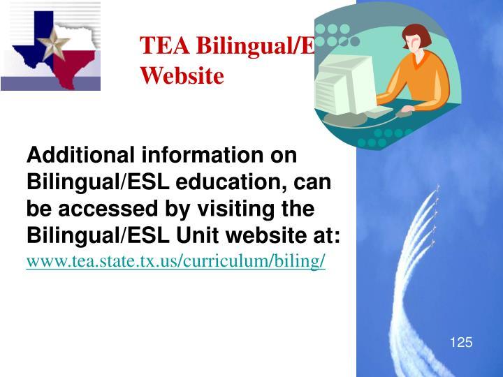 TEA Bilingual/ESL Website