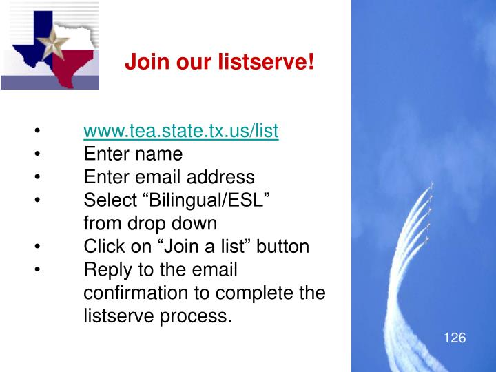 Join our listserve!