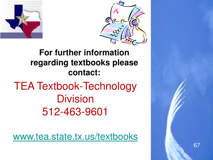 For further information regarding textbooks please contact: