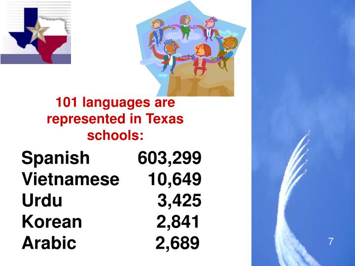 101 languages are represented in Texas schools: