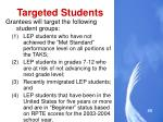 targeted students
