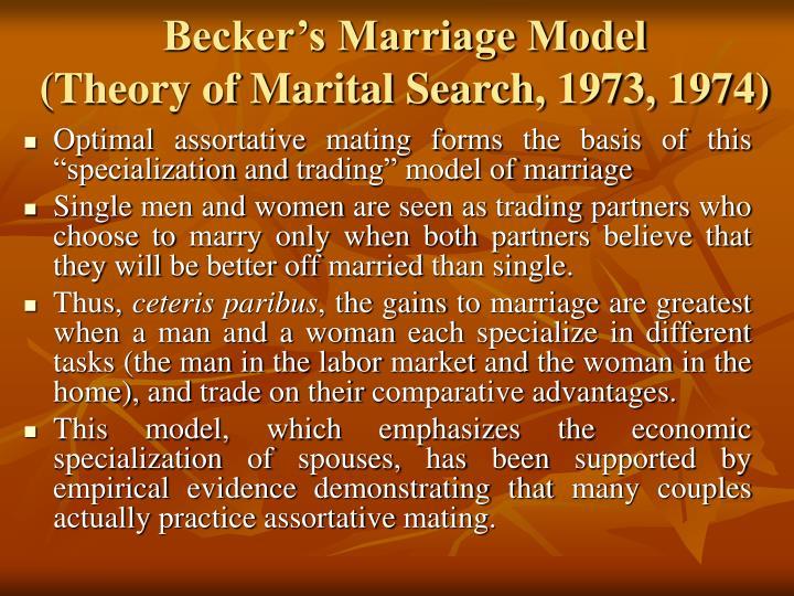 Becker's Marriage Model