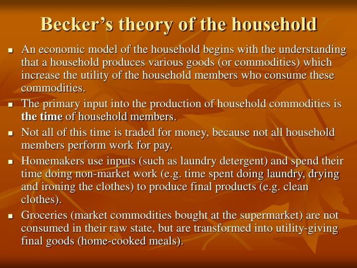 Becker's theory of the household