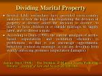 dividing marital property