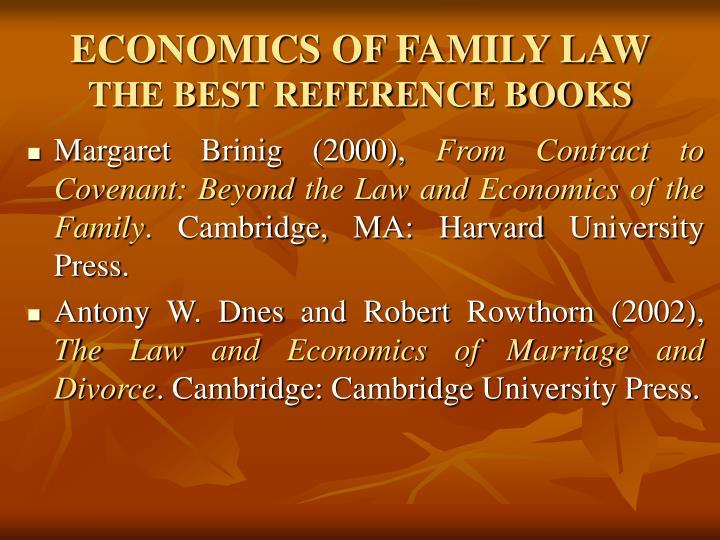 ECONOMICS OF FAMILY LAW