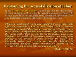 explaining the sexual division of labor