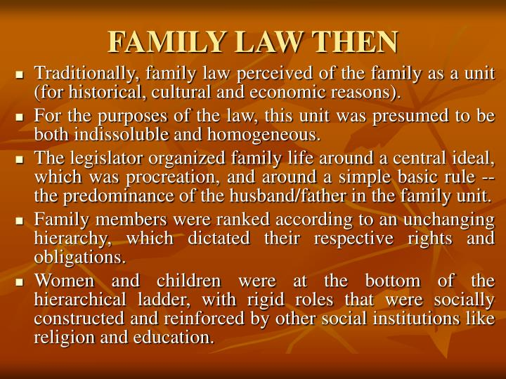 FAMILY LAW THEN