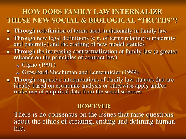 HOW DOES FAMILY LAW INTERNALIZE
