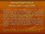 marital opportunism brinig and crafton 1994