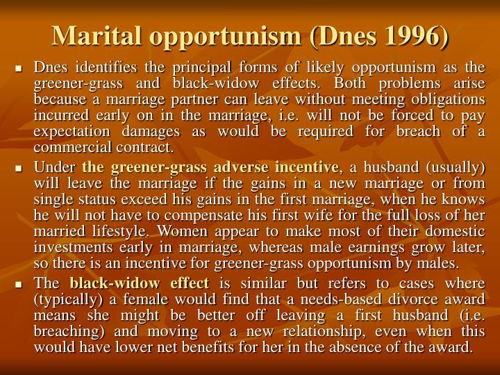 Marital opportunism (Dnes 1996)