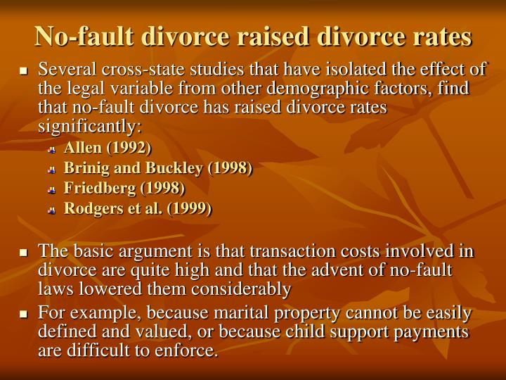 No-fault divorce raised divorce rates