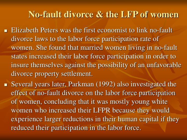 No-fault divorce & the LFP of women