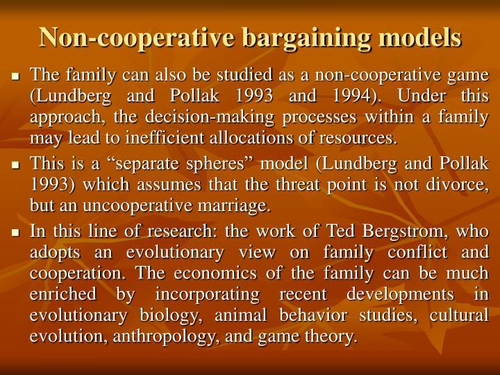 Non-cooperative bargaining models