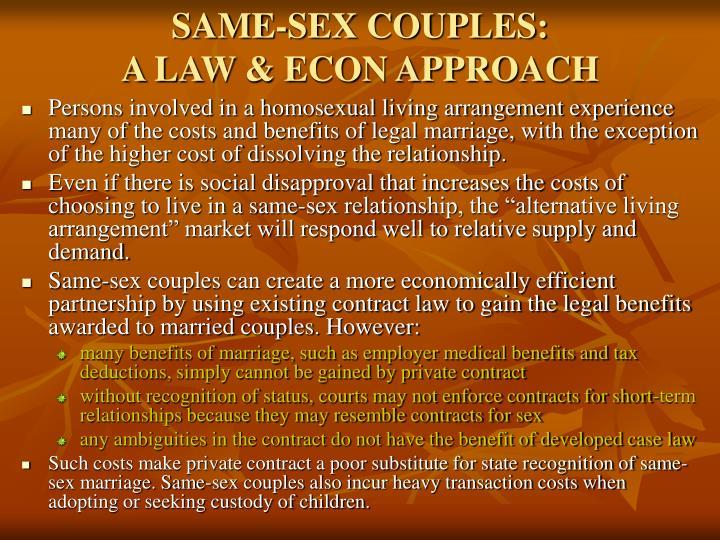 SAME-SEX COUPLES: