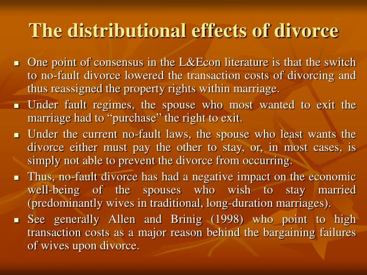 The distributional effects of divorce