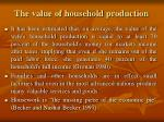 the value of household production