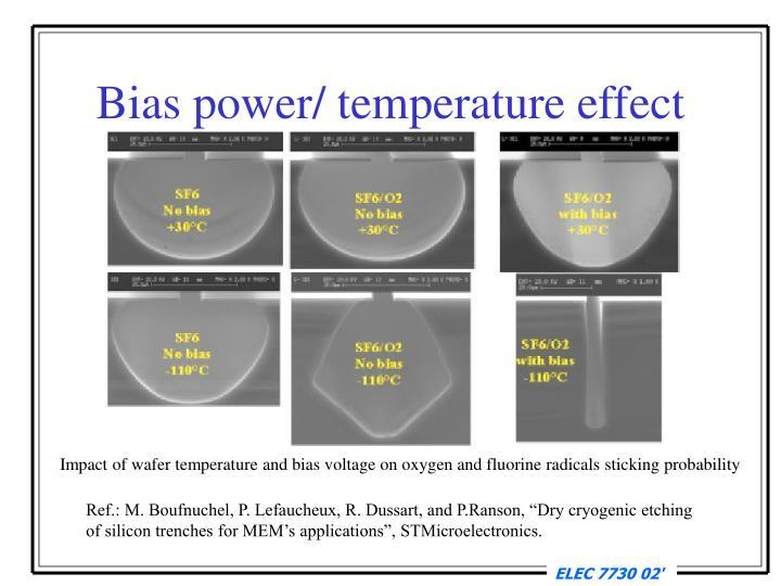Bias power/ temperature effect
