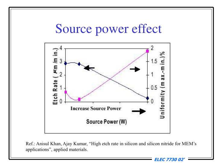 Source power effect
