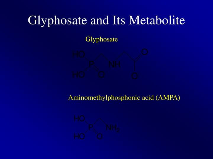 Glyphosate and Its Metabolite