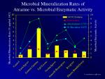 microbial mineralization rates of atrazine vs microbial enzymatic activity