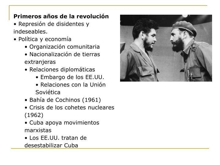 Primeros años de la revolución