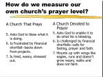 how do we measure our own church s prayer level2