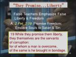 they promise liberty12