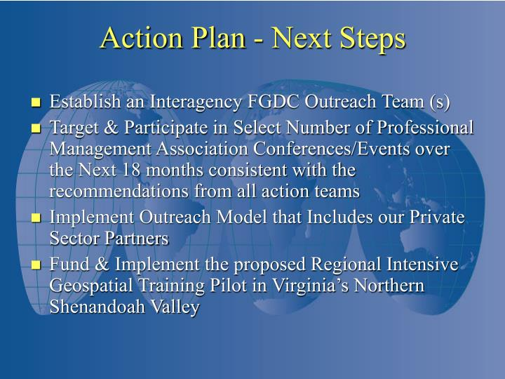 Establish an Interagency FGDC Outreach Team (s)