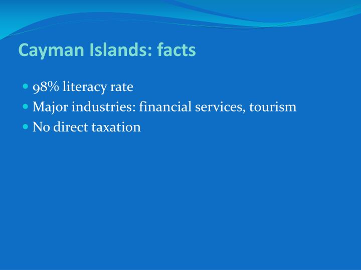 Cayman Islands: facts