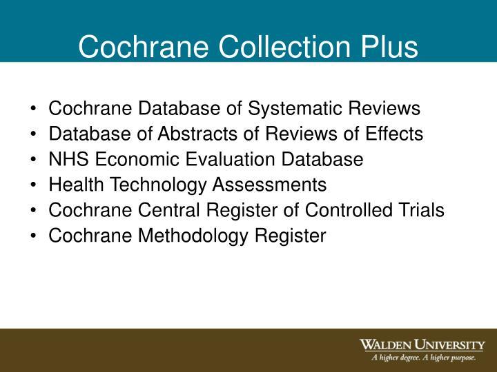 Cochrane Collection Plus